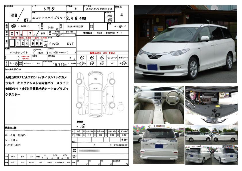 車両情報の例